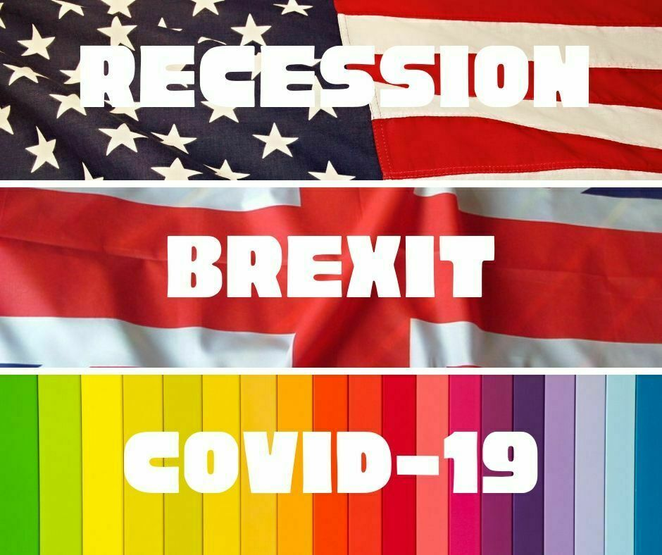 3 major challenges to business in the last 15 years. Global recession, Brexit and Covid-19